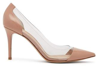 Gianvito Rossi Plexi 85 Leather Pumps - Womens - Nude