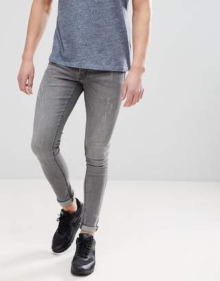 Hoxton Denim Extreme Skinny Jeans in Mid Gray