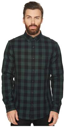 Original Penguin Long Sleeve Waffle Buffalo Check Shirt Men's Long Sleeve Button Up