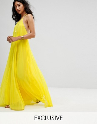 Missguided Pleated Maxi Dress $56 thestylecure.com