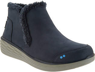 Ryka Faux Fur Wedge Ankle Boots - Namaste