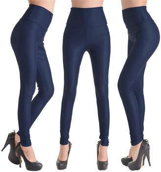 Celine lin Women's PU Leather High Waist Leggings Stretch Pants