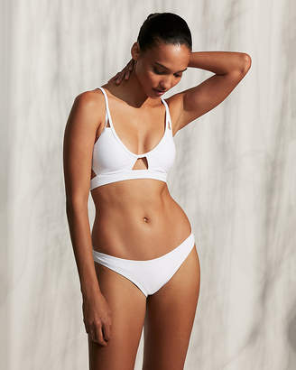 Express Low Rise Ribbed Basic Bikini Bottoms