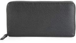 Saks Fifth Avenue Leather Zip-Around Continental Wallet