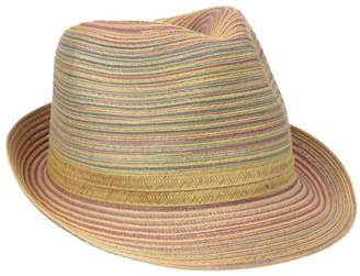 San Diego Hat Company Women's Mixed Braid Fedora Sun Hat
