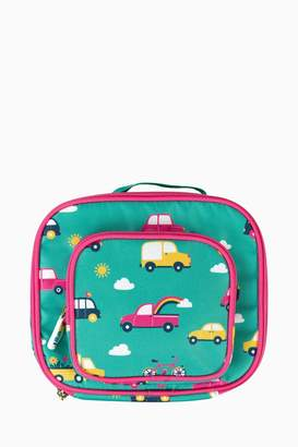 Frugi Girls Car Print Lunch Bag - Green