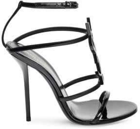 Saint Laurent Cassandra Logo Stiletto Sandals