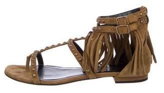 Saint Laurent Suede Fringe Sandals
