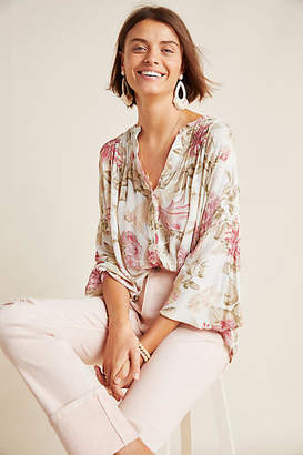 Frye x Anthropologie Elden Floral Peasant Blouse