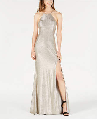 Blondie Nites Juniors' Strappy-Back Gown
