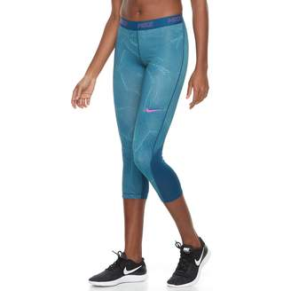 Nike Women's Training Mesh Panel Capri Leggings