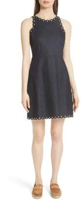 Kate Spade rivet detail denim fit & flare dress