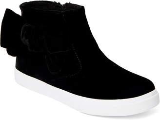 Nina Kids Girls) Black Harolyn Velvet Bow High-Top Sneakers