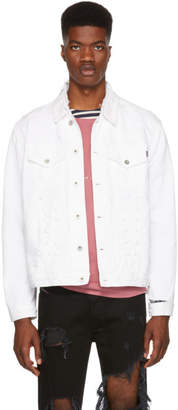 Diesel White D Hilly Denim Jacket