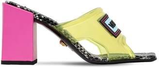 Versace 70mm Plexi Sandals