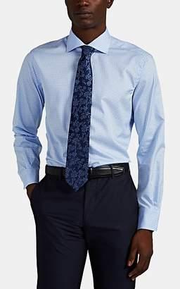 Barneys New York MEN'S GINGHAM COTTON DRESS SHIRT