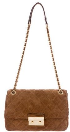Michael Kors Quilted Suede Shoulder Bag