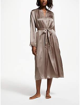 John Lewis & Partners Silk Dressing Gown, Almondine