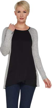 Halston H By H by Super Soft Knit Scoop Neck Long Sleeve Top