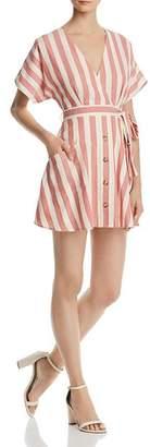 Aqua Button Detail Striped Dress - 100% Exclusive