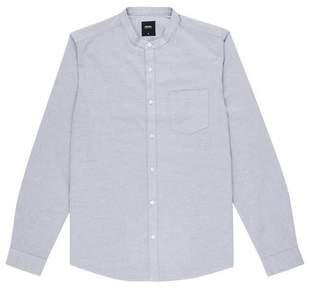 Burton Mens Long Sleeve Mist Oxford Grandad Shirt