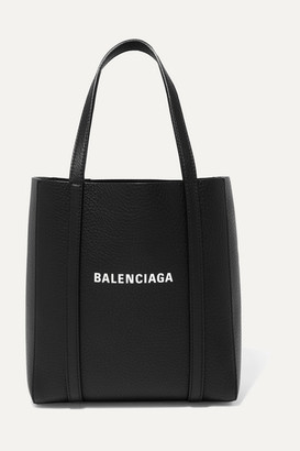 Balenciaga Everyday Mini Printed Textured-leather Tote - Black
