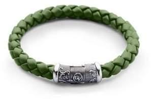 David Yurman Braided Rubber& Sterling Silver Bracelet