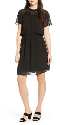 Velvet by Graham & Spencer Swiss Dot Blouson Dress