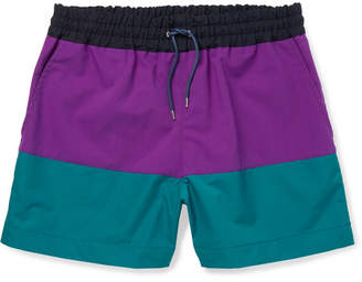 Sacai Colour-Block Shell Shorts
