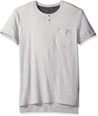 Calvin Klein Jeans Men's Short Sleeve Heather Slit Neck T-Shirt