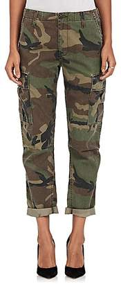 RE/DONE Women's Camouflage Crop Cargo Pants - Dk. Green