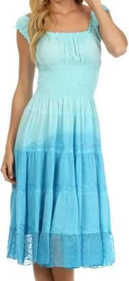 Sakkas 6741 Spring Maiden Ombre Peasant Dress