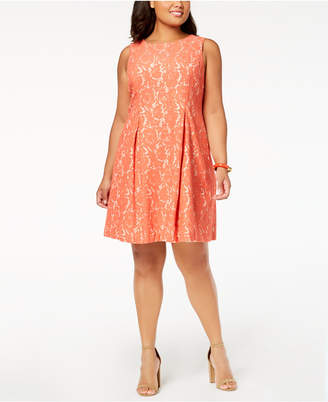 Jessica Howard Plus Size Lace A-Line Dress