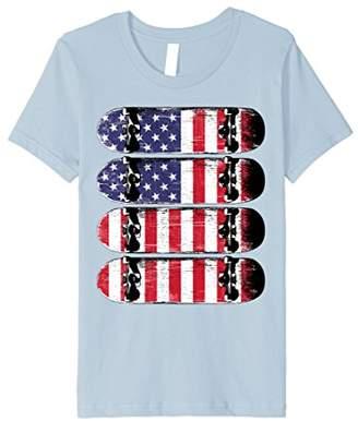 Fourth Of July United We Shred Skate Premium T-Shirt