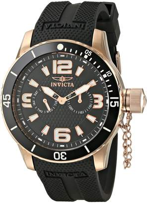 Invicta Men's 1793 Specialty Textured Dial Polyurethane Watch