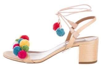 Altuzarra Pom-Pom Slingback Sandals