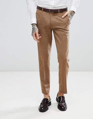 Harry Brown Camel Nep Slim Fit Suit Pants