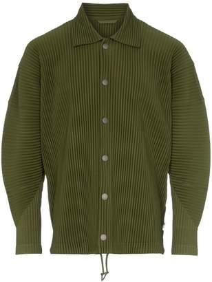 Issey Miyake Homme Plissé Coach plissé shirt jacket