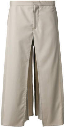 Chalayan drop crotch panel trousers