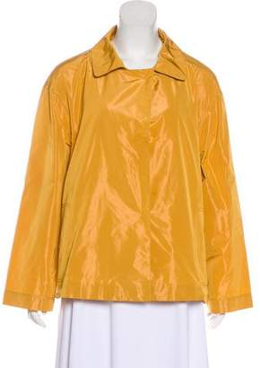 Lafayette 148 Pointed-Collar Light-Weight Jacket