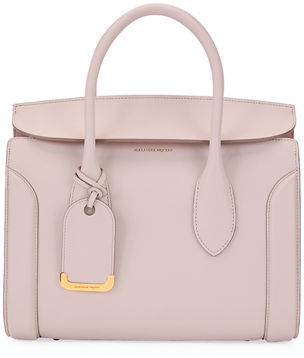 Alexander McQueen Heroine 30 Small Sweet Calf Leather Tote Bag $2,490 thestylecure.com