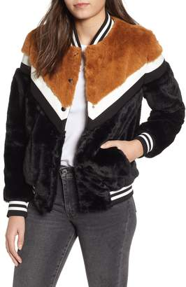 LIRA Parkview Faux Fur Bomber Jacket