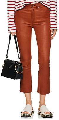 Rag & Bone Women's Hana Leather Mid-Rise Straight Jeans