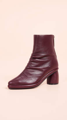 Reike Nen Shirring Middle Ankle Booties