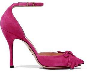 Charlotte Olympia Knotted Suede Pumps