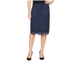 ECI Floral Lace Pencil Skirt Women's Skirt