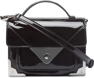 DKNY Mini Jaxone Top-Handle Patent Leather Crossbody