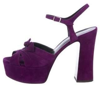 Saint Laurent Open-Toe Platform Sandals