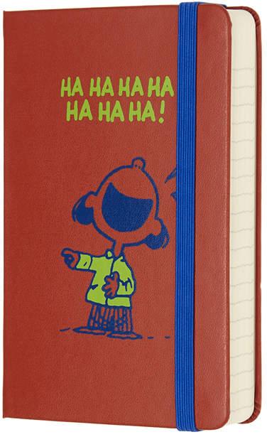 Coral Peanuts 'Ha Ha Ha!' Elastic-Band Notebook