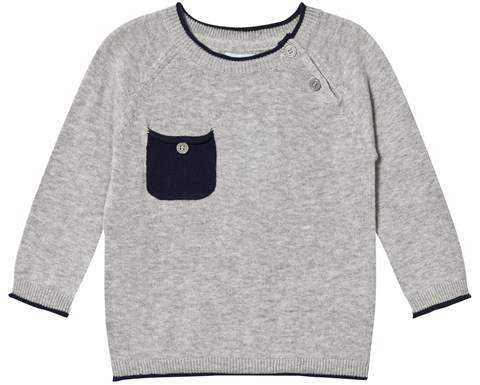 Noa Noa Miniature Grey and Navy Long Sleeved Pullover